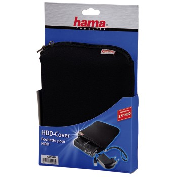 3.5 HDD Cover, neoprene, black