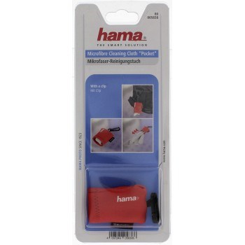 Hama Pocket Microfibre Cleaning Cloth, red
