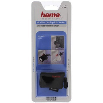 Hama Pocket Microfibre Cleaning Cloth, black