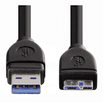 Hama USB 3.0 Connecting Cable, A-plug - micro B-plug, 1.80 m