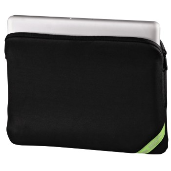 Velour Notebook Sleeve, display sizes up to 40 cm (15.6), čierna