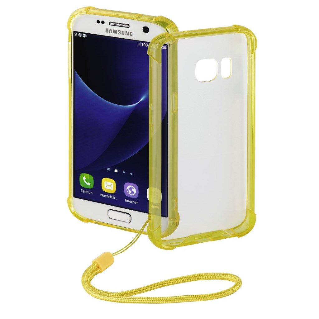 Hama Anti Shock Cover for Samsung Galaxy S7, yellow