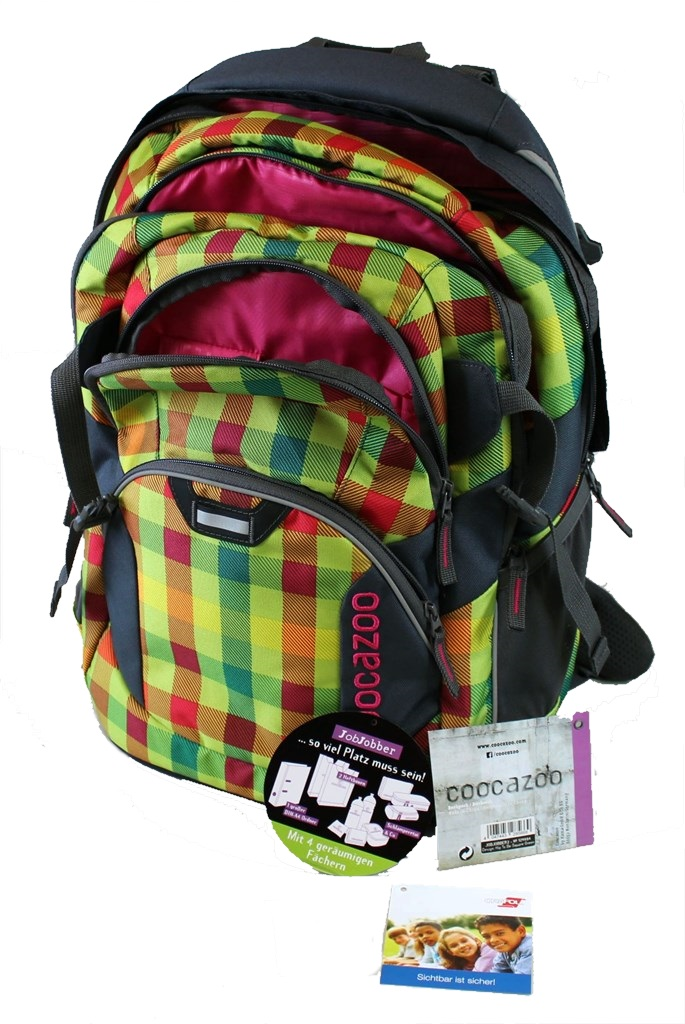 "Coocazoo ""JobJobber"" Backpack, Hip To Be Square Green"