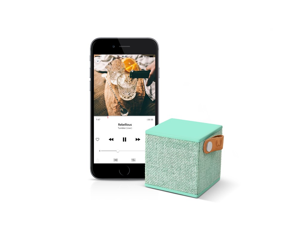 FRESH ´N REBEL Rockbox Cube Fabriq Edition Bluetooth reproduktor, bledozelený