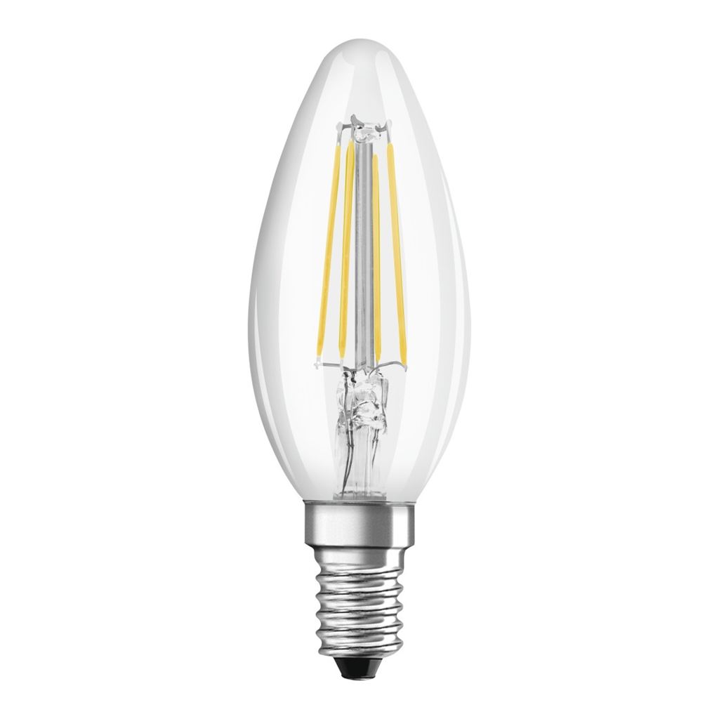 Xavax LED Filament, E14, 470 lm Replaces 40 W, Candle Bulb, warm white, 2 pcs