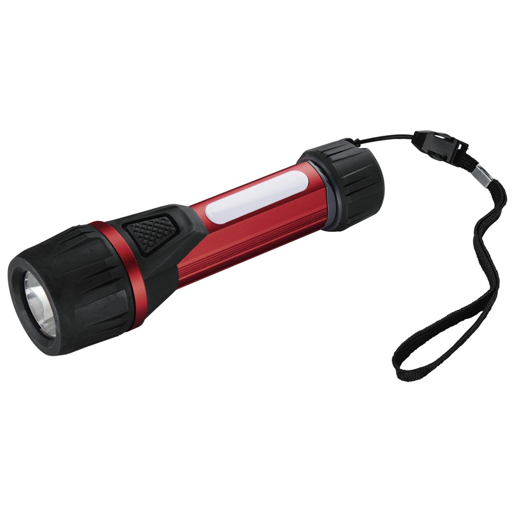 Hama Solid 2 LED Torch, 100 lumens, red