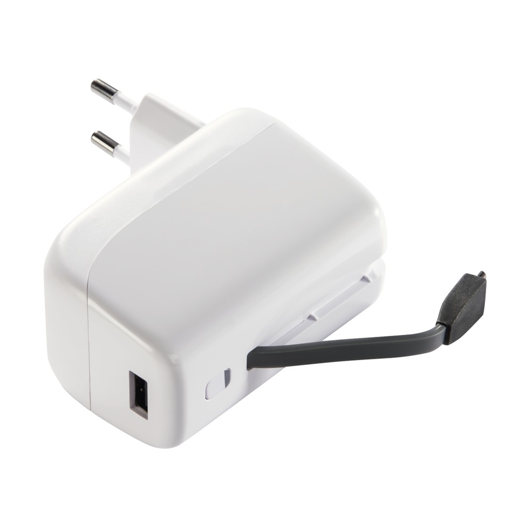 Hama Virtue Power Pack, 5200 mAh, with 230V charger, white