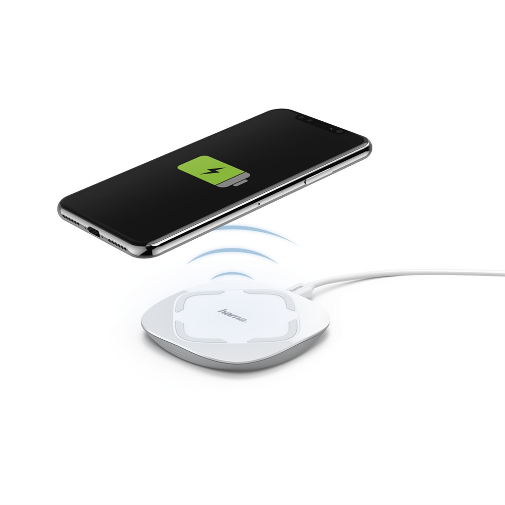 Hama QI-UFC 10 Wireless Charger for Smartphones, white