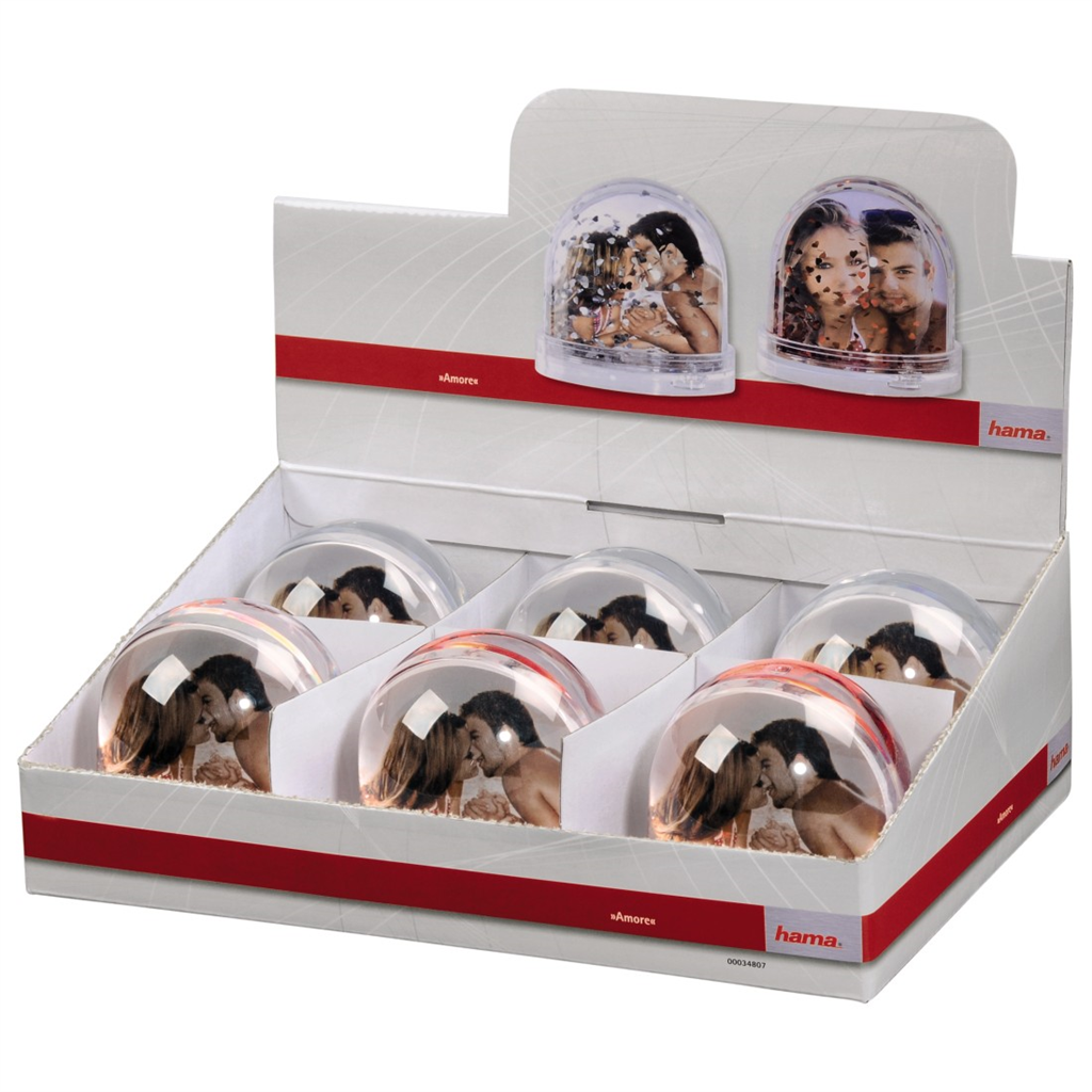 Amore Photo Globe, 6 pieces in a display box
