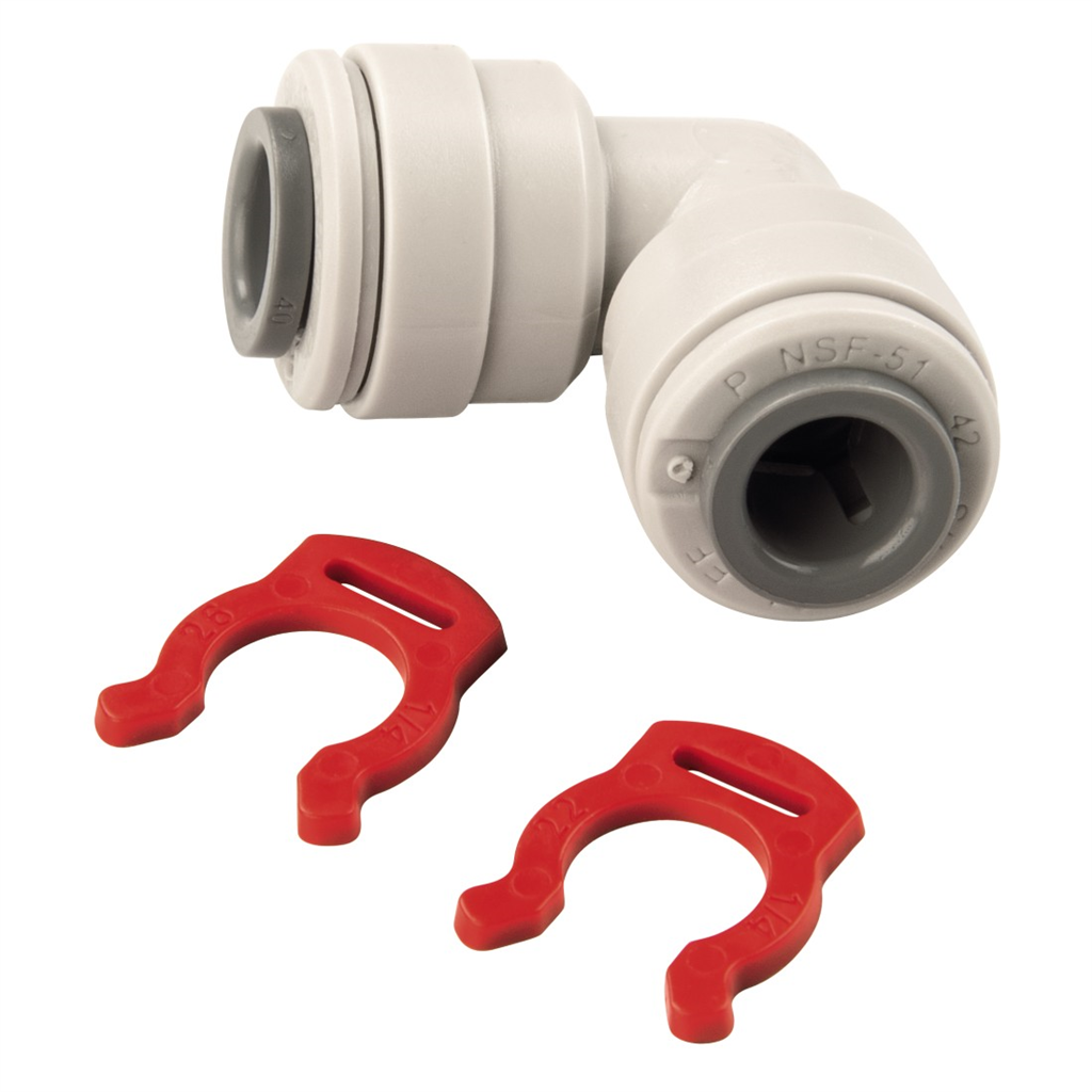 Xavax Angle Connector for Plastic Pipes, 1 4""