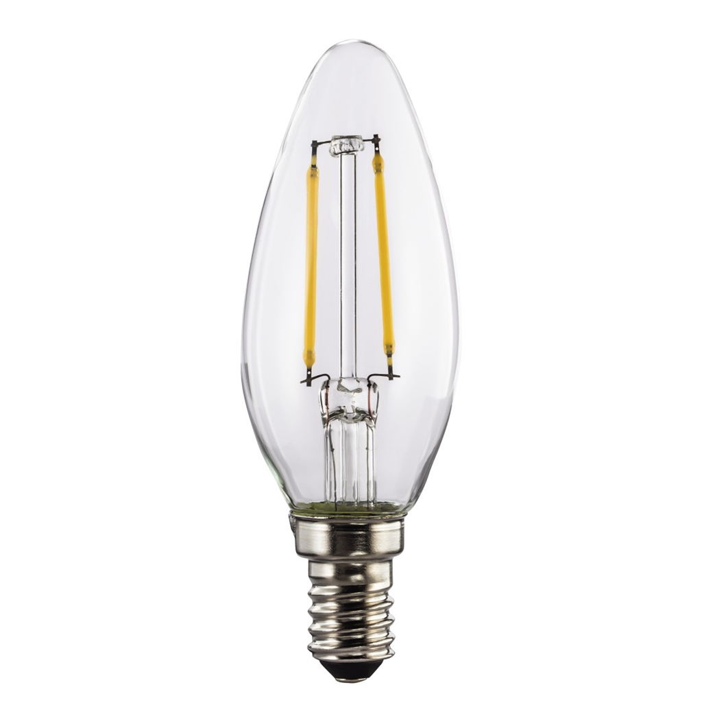 Xavax LED Filament, E14, 250lm replaces 25W, candle bulb, warm white