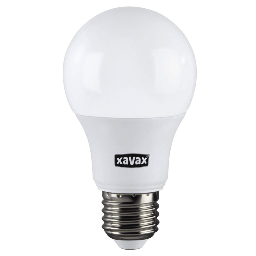 Xavax LED Bulb, E27, 806lm replaces 60W, incandescent lamp, warm white