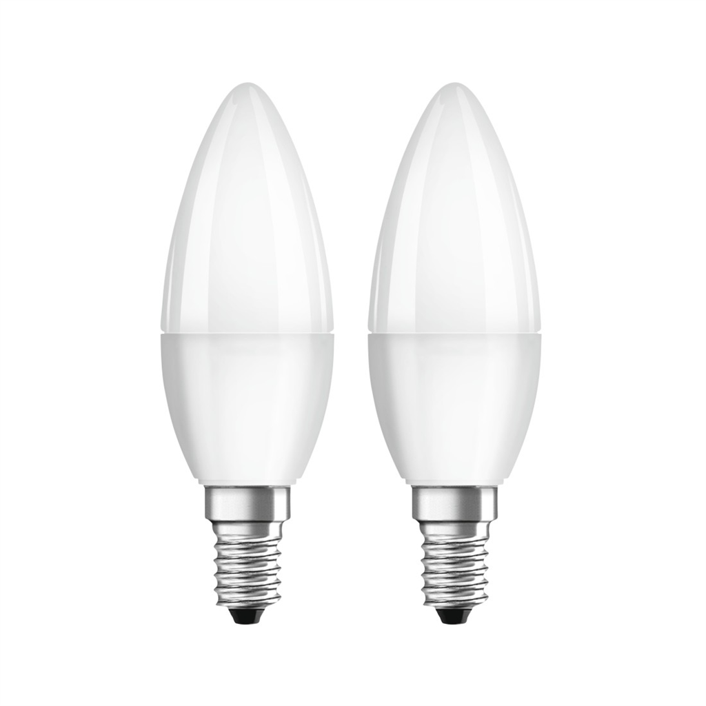 Xavax LED Bulb, E14, 470 lm Replaces 40 W, Candle Bulb, warm white, 2 pcs