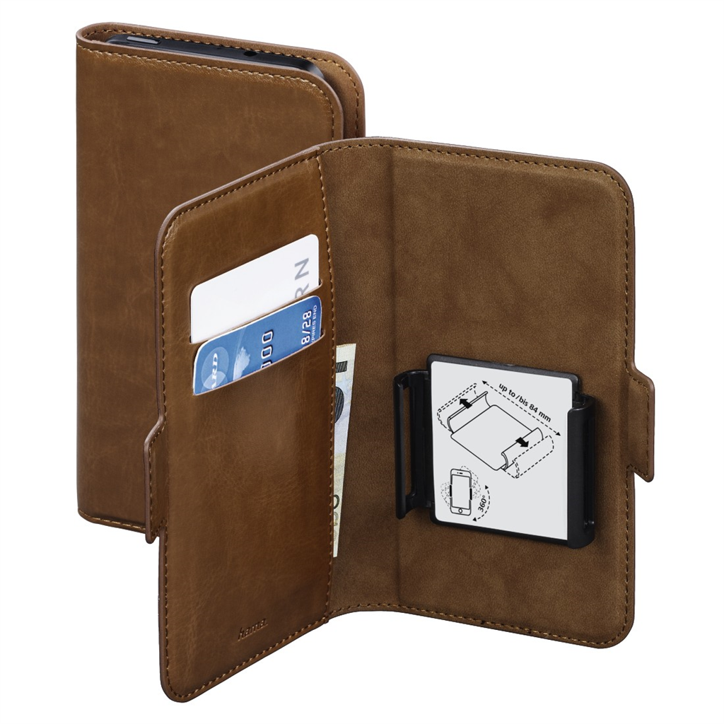 "Hama Smart Move Booklet Case, size XL (4,7-5,1""), brown"