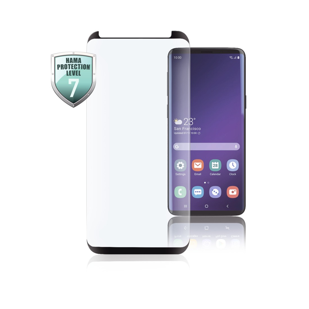 HAMA 186219  Full-Screen Protective Glass for Samsung Galaxy S10+, black