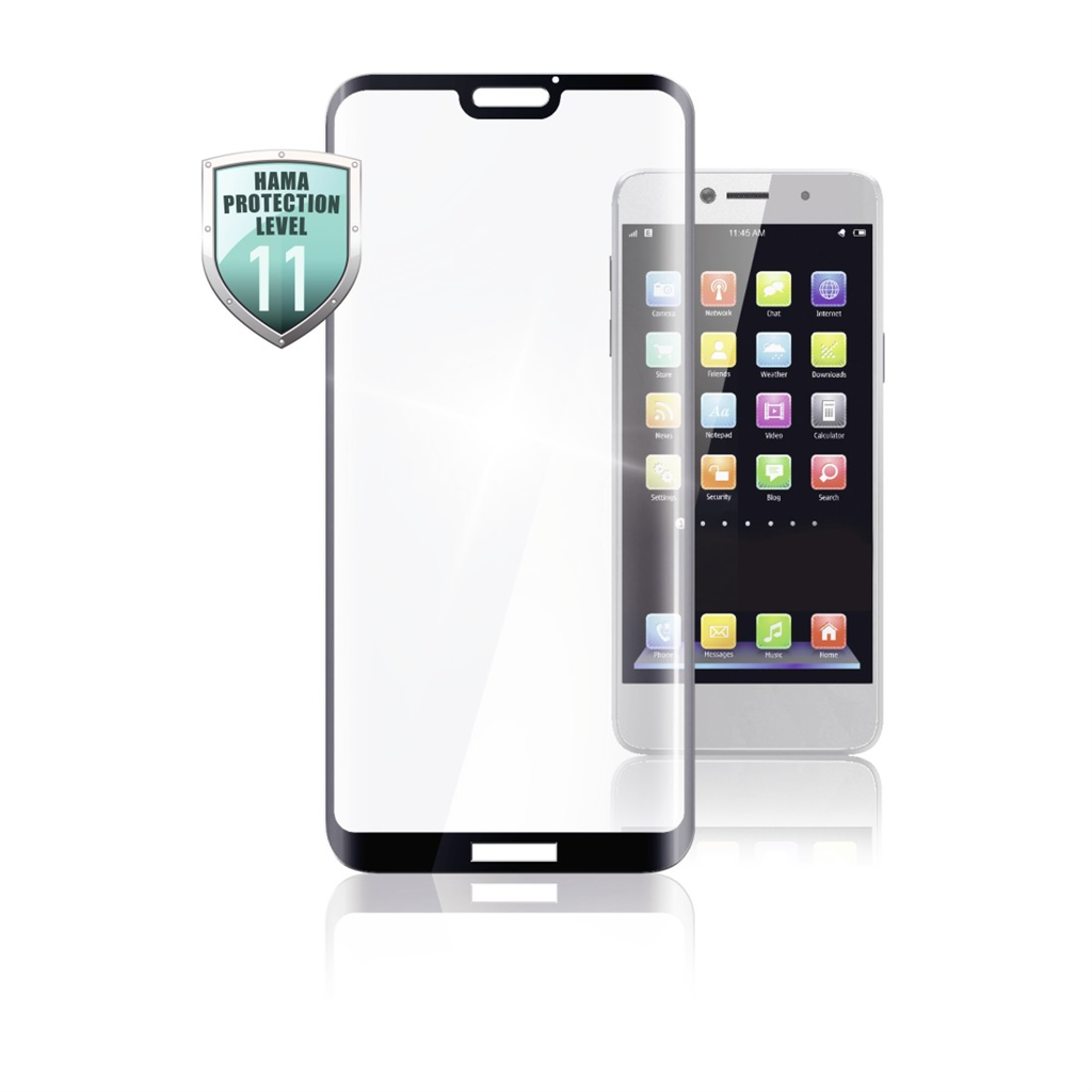 HAMA 186224  3D Full Screen Protective Glass for Huawei P30, black