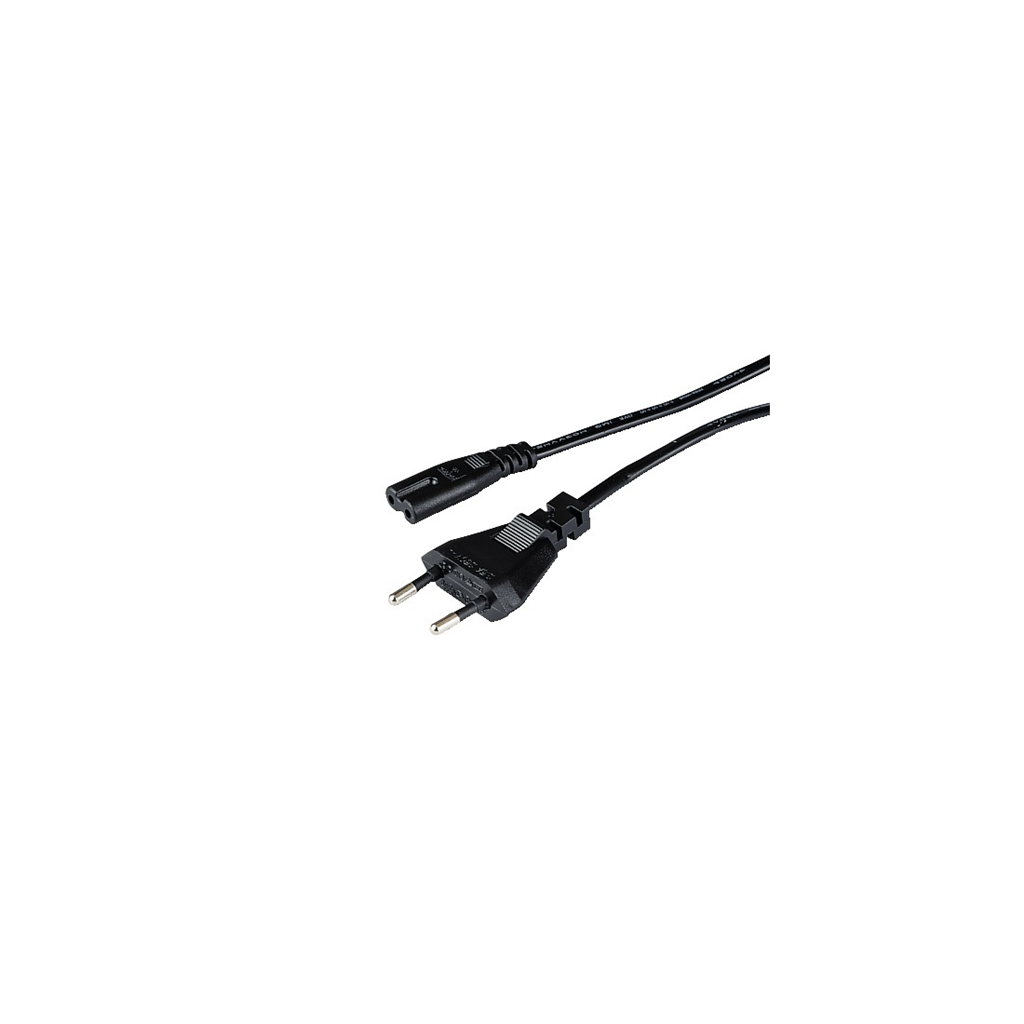 HAMA 42141  mains Cable, 1.5 m, Black