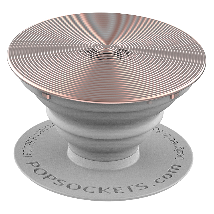 PopSockets 43110000  Original PopGrip, Twist Rose Gold Aluminum, hliníkový