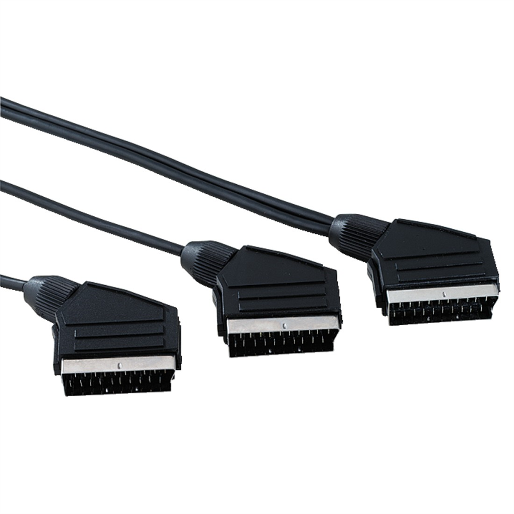 Scart vidlica IN OUT - scart vidlica IN + scart vidlica OUT, 2m