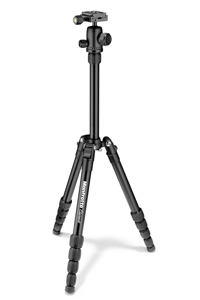 Manfrotto MKELES5BK-BH, stativ Element Traveller Small, černý, malý
