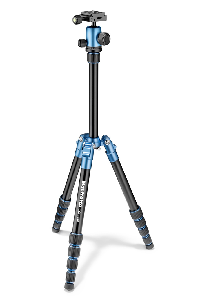 Manfrotto MKELES5BL-BH, stativ Element Traveller Small, modro černý, malý