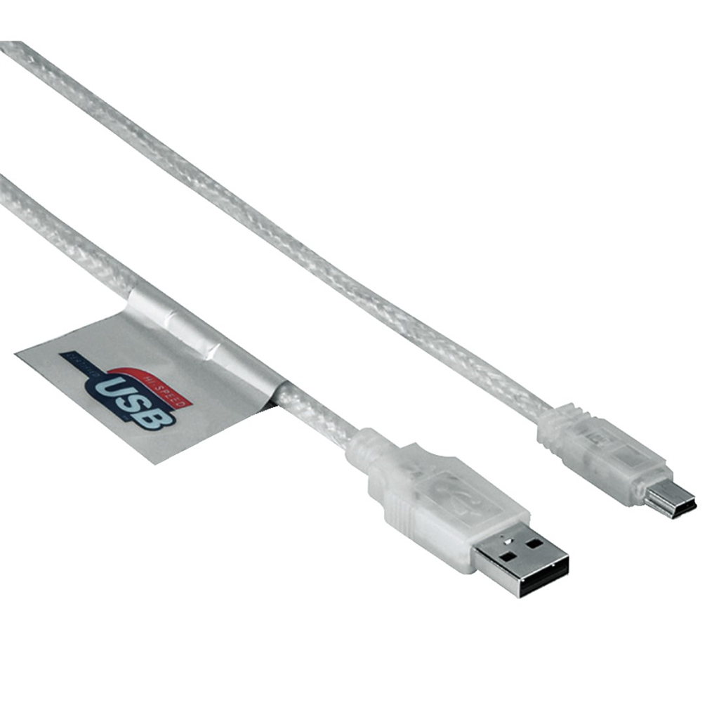 USB 2.0 Connection Cable A-Plug - Mini B-Plug (B 5Pin), 1.8 m