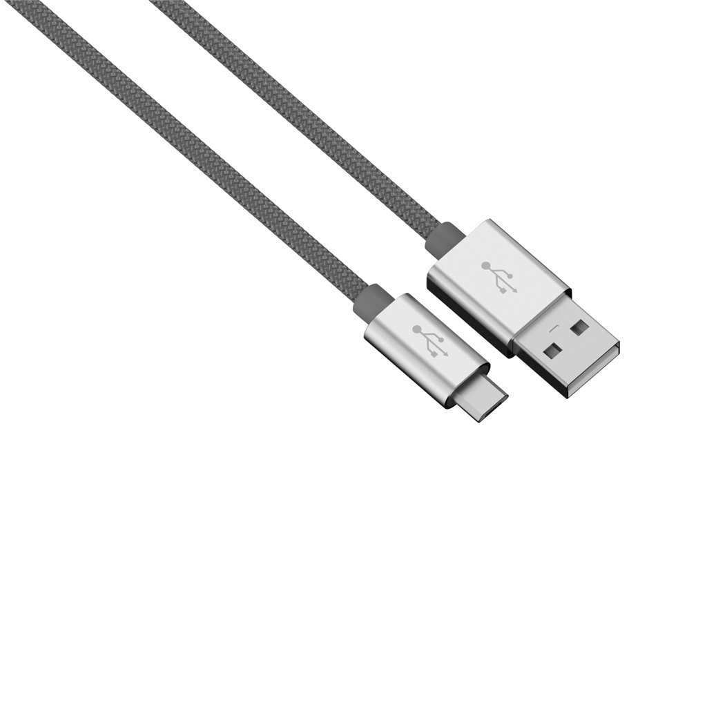 Hama micro USB kábel Color Line, 1 m, antracitový