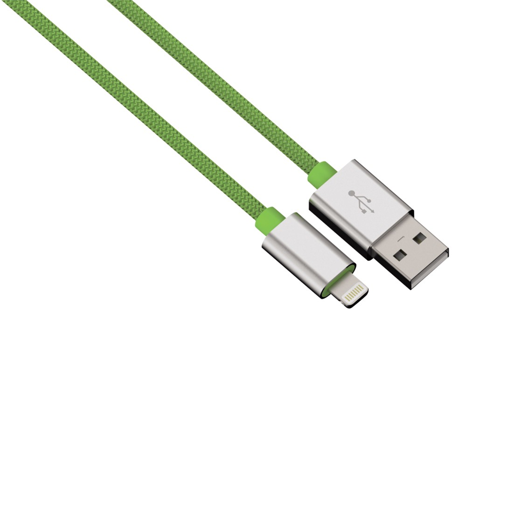 Hama USB kábel pre Apple Lightning, Color Line, 1 m, zelený