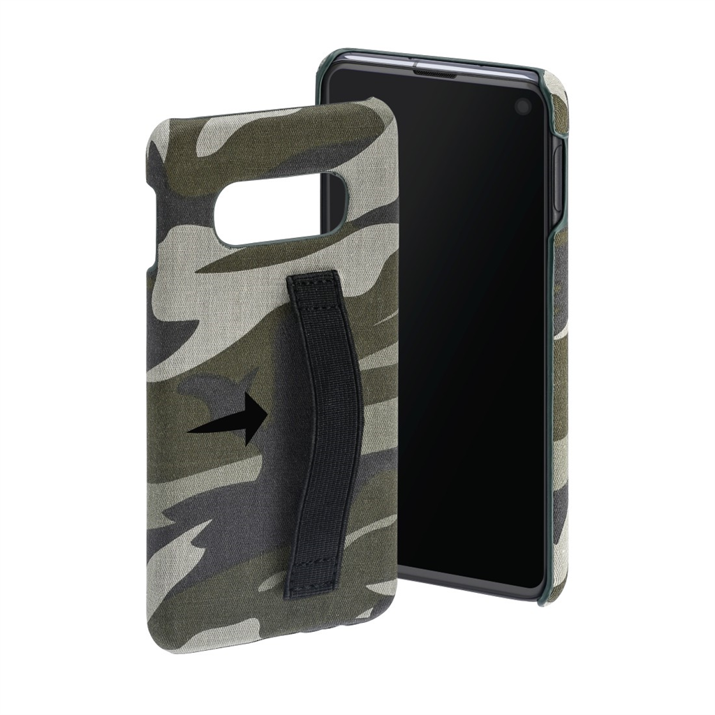 Hama Camouflage Loop Cover for Samsung Galaxy S10e, green