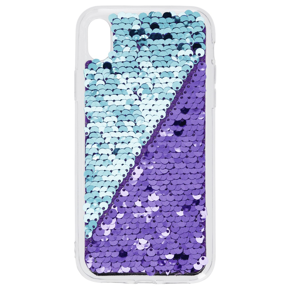 Hama Sequins Cover for Apple iPhone XR, purple turquoise