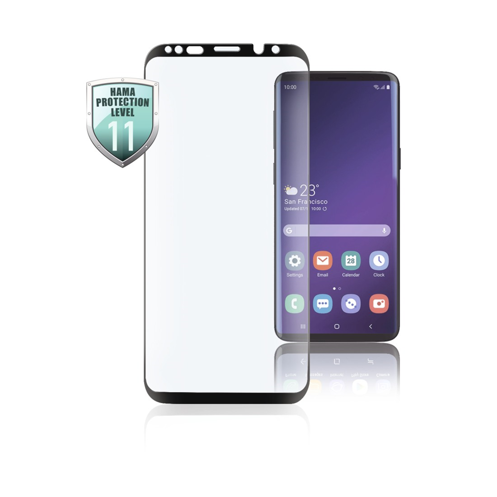 HAMA 186236  3D Full-Screen Protective Glass for Samsung Galaxy S10+, black