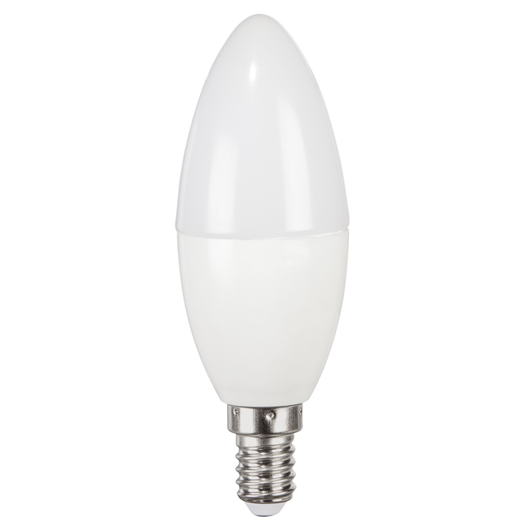 Xavax LED Bulb, E14, 470lm replaces 40W, candle bulb, warm white, RA90
